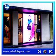 easy install window glass led advertising display china xxx video