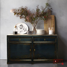 [MSD] Dining room Sideboard Chinese High gloss cabinet Painted cabinet Chinese reproduction alter display cabinet Console