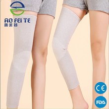 HOT Selling Long bamboo carbon Elasticated Compression Leg Knee Sleeve Calf Shin Support Brace