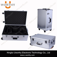 Aluminum Pilot Trolley Case with Wheels and Handle