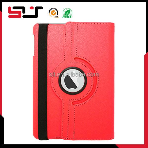 Fancy slim shell pu leather flip case for ipad mini 2