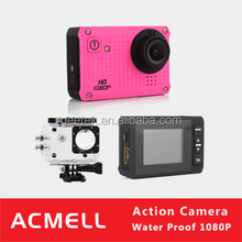 Acmell MOV H264 Codec 1.5 inch HD TFT Screen 30m waterproof action camera HD1080P