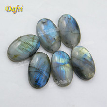 Blue Fire Oval Cabochon Natural Labradorite Stone