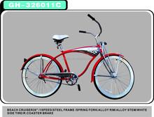"""26"""" men black beach cruiser/beach cruiser bike/beach cruiser bicycle GH-326011C"""