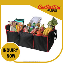 (CS-27985) CarSetCity Foldable Collapsible Folding 3 Layers Cooler Set Foods & Drinks Black Storage Bag 46L Car Truck Organizer