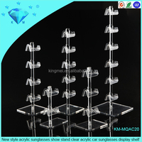 New style acrylic sunglasses show stand clear acrylic car sunglasses display shelf