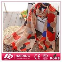 2015 latest long 100% polyester printed scarf/shawl 180*60cm