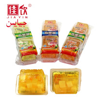 Coconut Jelly with Nata De Coco Jelly , Pudding , Clear Plastic Cup Fruit Jelly Drink