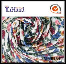 rayon satin rose flowers spandex printing fabric textile