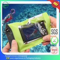 PVC clear swimming touch screen smart phone camera zip lock bag
