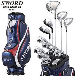 katana 2014 model SWORD iZU MAX G katana golf set Fujikura original Motore Speeder shaft specifications, include caddie bag