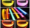High Quality Popular Soft Flashing Glowing Nylon LCD Pet Dog Leash Collar
