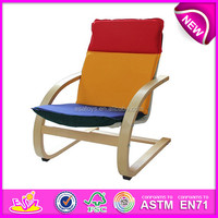 Colorful and cheap wooden relax chair,comfortable and stable wooden chair toy,wooden relax chair toy W08F039