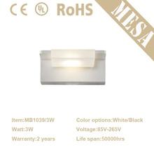 2015 más caliente pequeño 3w 6w 9w luces para baños