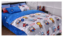 china nantong 100% polyester microfiber printed fabric 3pcs bedding set children cartoon