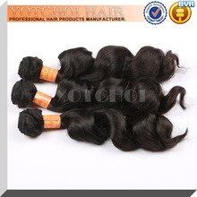 Wholesale no tangle no shedding 100% virgin indian hair remy