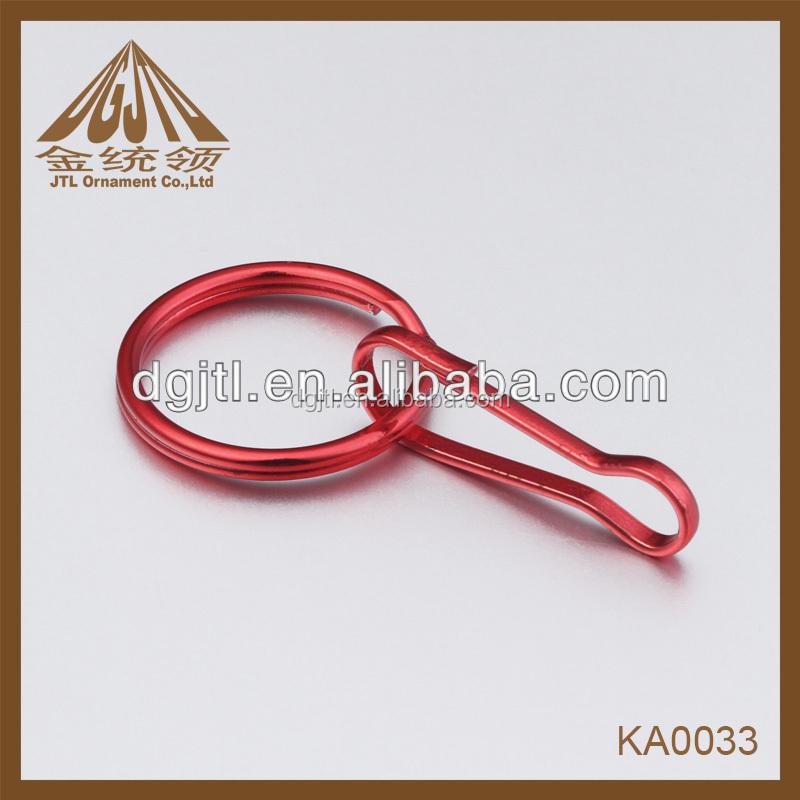 Moda anillos partidos del metal de cordón gancho