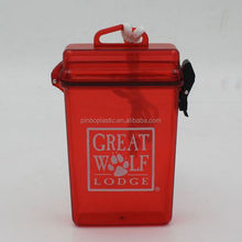 Plastic Safety Waterproof Containers for Swimming with Strap