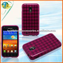 For Samsung D710 Galaxy S II Epic 4g touch Transparent Hotpink Cell Phone tpu cover