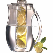 plastic water jug/plastic water pitcher/acrylic water pitcher, aesthetic transparent teapot ,acrylic fruit infuser pitcher