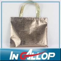 metallic color non woven bag