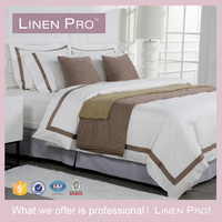 Latest Luxury Hand Made Bed Sheets Designs 300 TC Cotton Hotel Bed Sheet Linen