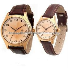 genuine leather strap Gent and Lady Watch