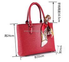 luxury lady tote bag satchel handbag PU leather shoulder bag