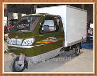 Chongqing Popular Water/Air cooling Petrol Food Delivery Van Cargo Tricycle For Sale