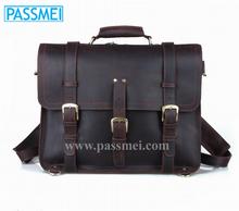 Hot Sale Vintage Real Leather Men Handbag Men's Genuine Leather Backpack Shoulders Bag Briefcase
