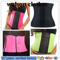 2015 new arrival style cheap colorful hot sale waist training corsets plus size