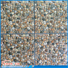 For Garden Decoration Non Slip Ceramic 3D Pebble Floor Tiles 400x400mm