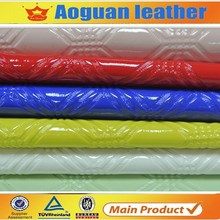 2015 hot sell glossy patent bags material pvc leather