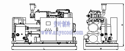 BBLG series low temperature screw Compressor racks