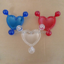 Promotional heart shaped plastic manual massager
