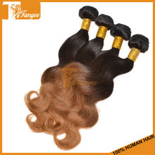 Girl Lady Women Hair Fashion Beauty Salon 6A Ombre Color Two Tone 1B/30 Honey Blonde Hair Weaves Body Wave European Human Hair