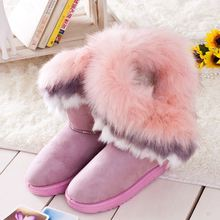 2014 Korean version of the high-end snow boots Tall boots warm fox fur to keep warm shoes factory wholesale