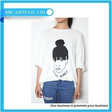 high quality 100% cotton big size custom screen printing t shirt