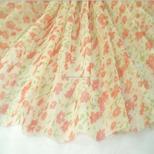 100% polyester floral printing dress fabric/printed chiffon fabric/chiffon dress fabric