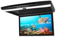 "1920*(RGB)*1080Pixel 17.3"" Roof Mounted Flip Down Monitor for bus, flip down Roof Mount Car DVD player with AV1,AV2,HIDM"