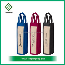 2015 Jute Promotional Wine Gift Tote Bag