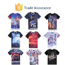 2015 Fashion Men/Women's 3D Tee Shirt Print Basketball Star