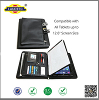 "Universal Business Leather Portfolio case cover for iPad Pro , for iPad 2/3/4 and and all tablets up to 12.9"" ------- Laudtec"
