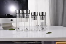 double wall glass sports water bottle water glass pipe