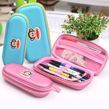 Cute design PU surface eva pencil case