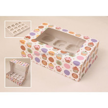 High Quality Coloured Paper Cupcake Box Packaging, Custom Print Cupcake Boxes