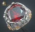 925 prata esterlina opala anel com pedra preciosa vermelho grande, novo opala elegante anel XYR300150