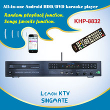 All-in-one Android Full HD DVD/HDD Karaoke machine with 1080P ,Select songs via for iPhone/Android phone ,Over 3TB up to 16TB H
