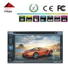 universal doble din radio del coche reproductor de dvd con navegador gps tv pulgadas 6.2 apoyo control del volante