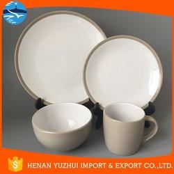color glaze ceramic dinner set items name